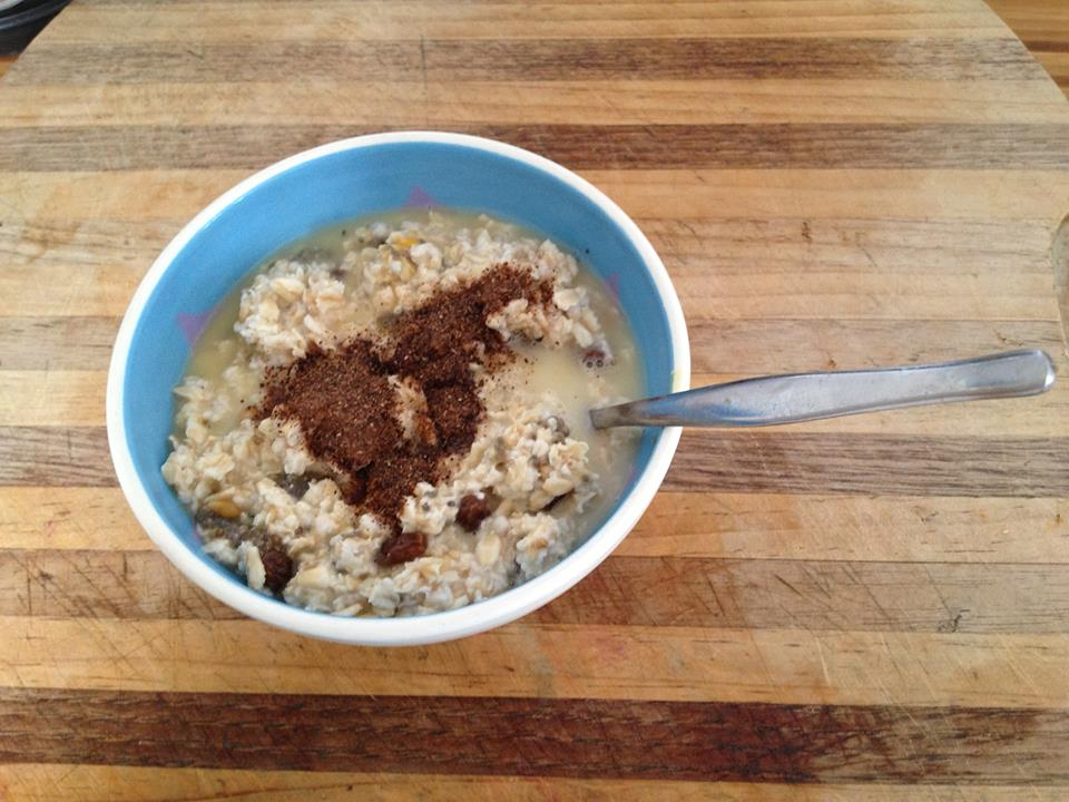 Carob + porridge